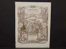 French, France, Porcelain, Dishes, Crystal, Faience, Paris, Catalog Page, !C1#01