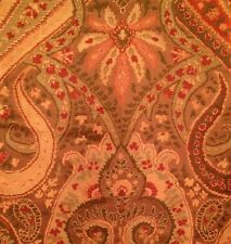CLARENCE HOUSE Etro Fiorella Cafe au Lait Paisley Viscose Silk Italy Remnant New