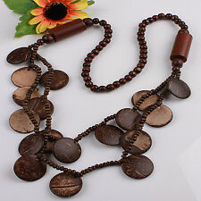 New Fashional Brown Coconut Shell Round Beads Wooden Beads Jewelry Necklace