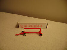 ERTL STANDI TOYS 1/64 SCALE RED HEADER WAGON CART FARM TOY