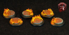 Figure Painters Bases (10) 30mm Mozaic and Flames bases,Round lip, Warmachine