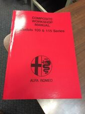 Alfa Romeo 105-115 Series GTV Spider Workshop Manual Repair Service Instruction
