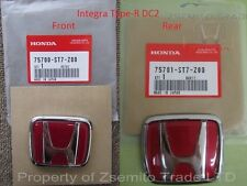 Honda Integra DC2 Type R FRONT AND REAR EMBLEM JDM Genuine ITR OEM Badge