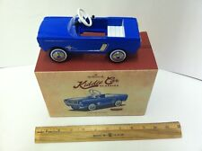 Hallmark 2015 1965 Ford Mustang Blue PEDAL CAR Kiddie Car Classics