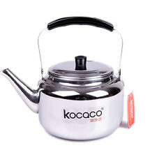 KOCACO 2-Liter Stainless Steel Kettle Boiling Hot Water Pot Tea Coffee Maker