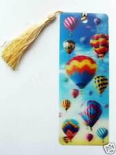 3D Lesezeichen - wie schwebende Motive - Spezialeffekt - mit Kordel - Ballone `1