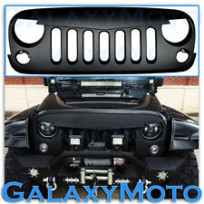 Matte Black Jeep JK 07-16 Wrangler ABS Replacement Grille Shell Angry Bird Style