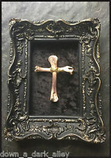 Framed Bone Reliquary Cross - Gothic Gaff - Gothic - Occult - Relic -