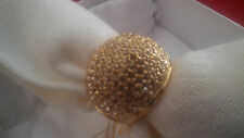 Melania Trump Gold Tone Domed Ring - Size 7 CZ Pave'  57A