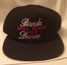 Bands Bandz Will Make Her Dance Adjustable Back Black Baseball Cap Hat