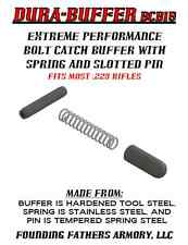 EXTREME PERFORMANCE AR BOLT CATCH BUFFER (TOOL-STEEL), SPRING, AND PIN, USA MADE