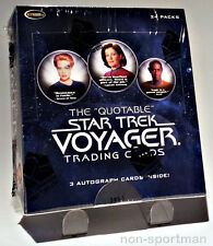 QUOTABLE STAR TREK VOYAGER FACTORY SEALED BOX(24 PACKS)