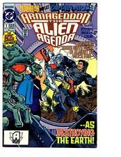 4 Armageddon the Alien Agenda DC Comic Books # 1 2 3 4 Captain Atom Monarch BH26