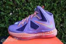 NIKE LEBRON X GS SZ 4 Y AREA 72 ALL STAR LASER PURPLE TOTAL CRIMSON 543564 500