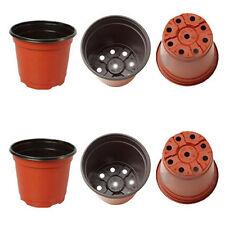 """100pieces lot 9cm/3.5"""" plastic nursery plant pots planter gardening flower pots"""