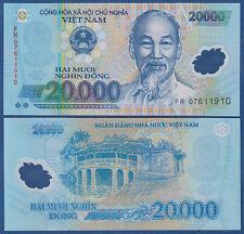 VIETNAM / VIET-NAM  20.000 Dong (20)07 Polymer  UNC  P. 120 b