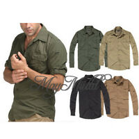 Mens Casual Military Outdoor Tactical Sports Short Long Sleeves Shirts Newest UR
