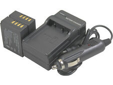 New 2 piece NP-W126 NPW126 Camera Batteries and Charger For XA1 XE1 XE2 XM1 XT1