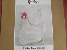 Peter Pan Knitted baby blanket Kit. Needles,yarn and instructions included. Pink