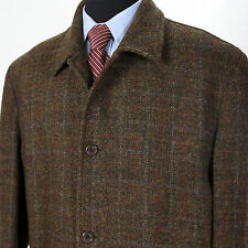 Harris Tweed Jos A Bank Men's XXL Brown Fall-Winter Warm Wool Jacket Sportcoat