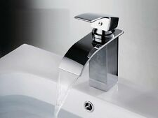 Euro Modern Contemporary Bathroom Vanity Sink Lavatory Faucet Curved Spout
