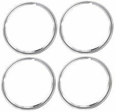 "14"" Chrome Stainless Steel HOT ROD STYLE SMOOTH Beauty Rings TRIM RING SET Of 4"