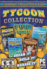 TYCOON COLLECTION 4x PC Games Moon, Marine, Coffee, NEW