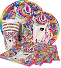 Lisa Frank Rainbow Majesty Birthday Party Pack For 16 Plates Napkins Table Cover