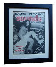 BOB MARLEY+Sounds 1977+POSTER+AD+REGGAE+FRAMED+ORIGINAL+VINTAGE+FAST GLOBAL SHIP