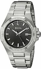 Bulova Men's 96E111 Diamond Accent Stainless Steel Bracelet Watch