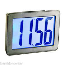 "Extra Large 2.5"" LCD Display Clock, Battery, 9 Alarm Sounds, Low Vision Macular"