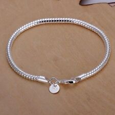 Wholesale Fashion jewelry 3mm Snake Chain Sterling silver Bracelet Hot Sell
