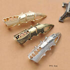 New Chic Retro Vintage Rock Punk Full Finger Joint Armor Knuckle Metal Rings