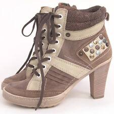 38 /UK5 | BRONX Lace Up Boots NEU-UVP 90€ Sommer Sneaker Stiefeletten Leder