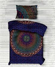 Indische Mandala Baumwoll-Duvetabdeckung Hippie Abdeckung Einzelne Bettwäsche