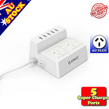 Orico 5 Port USB 5V Super Charger w/ AC Socket Desktop Charging Station_ODC-2A5U