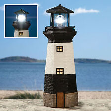 KINGAVON SOLAR POWERED LIGHT HOUSE GARDEN LIGHTHOUSE ORNAMENT WITH ROTATING LED