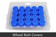 20pcs x BLUE Wheel Silicone 19mm Nut / Bolt / Screw Covers Caps /1300