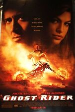 GHOST RIDER MOVIE POSTER  NICOLAS CAGE  EVA MENDES