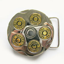 Men Belt Buckle Gun Bullet Spinner Spinning Belt Buckle