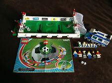 LEGO 3421 3406 Sports Soccer Fan Bus USA Football 3 vs 3 Shoot Minifigs Set Lot