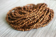4-5mm Natural Bayong Redwood - Round Premium Wood Beads - 15 inch strand