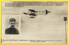 cpa AVIATION ECOLE Henri FARMAN MINISTERE de la GUERRE Le Lieutenant CAMERMANN