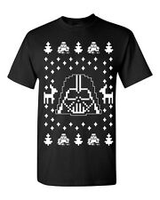 Darth Vader Ugly Christmas Sweater Star Wars Dark Side Men's Tee Shirt B119