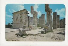 Chac Mool Warriors Temple Chichen Itza Yucatan Mexico Postcard 033b