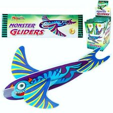 BOX of 48 x MONSTER GLIDERS in assorted designs ~ POLY GLIDERS THAT FLY!