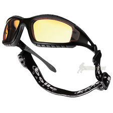 BOLLE TRACKER II GLASSES TACTICAL SPECTACLES YELLOW LENS BLACK FRAME + HEADBAND