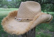 NEW Conner Hats Beach River Raffia Shapeable Western Straw Cowboy Hat F1025