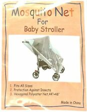 MOSQUITO INSECT PROTECTION NET MESH NETTING SLIPS OVER STROLLER or BASSINET