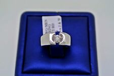 14k White Gold 0.50 CT Diamond Men's Ring, 8.2gm, Size 7